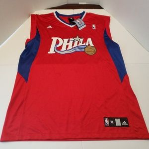 Philadelphia 76ers ADIDAS Red Mens blank JERSEY XL